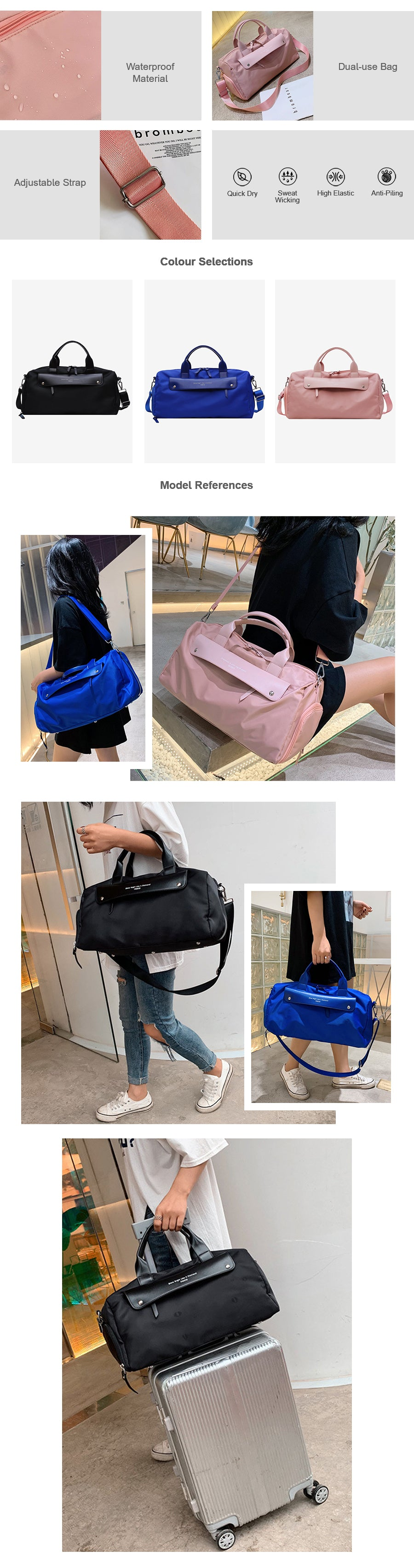 Shoulder & Crossbody Gym Bag