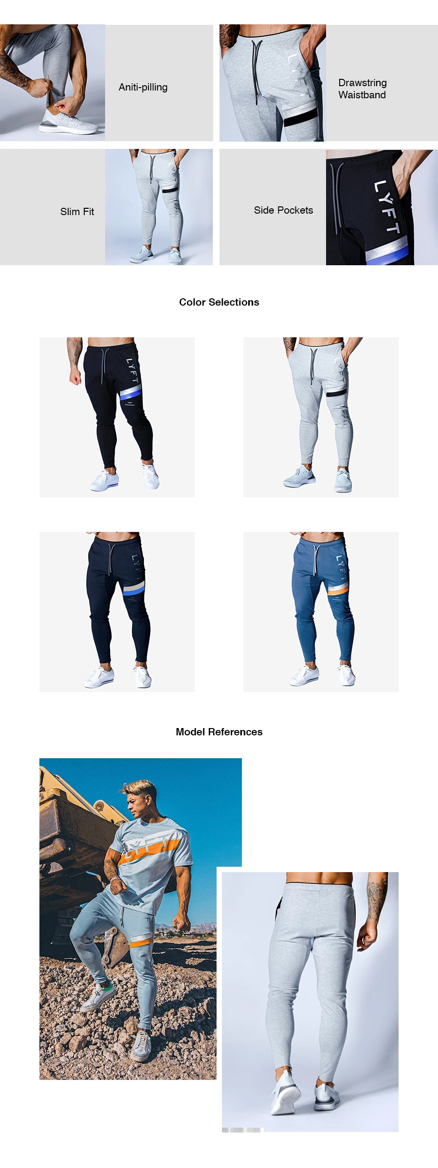 Printed Fitness Muscle Sweatpants