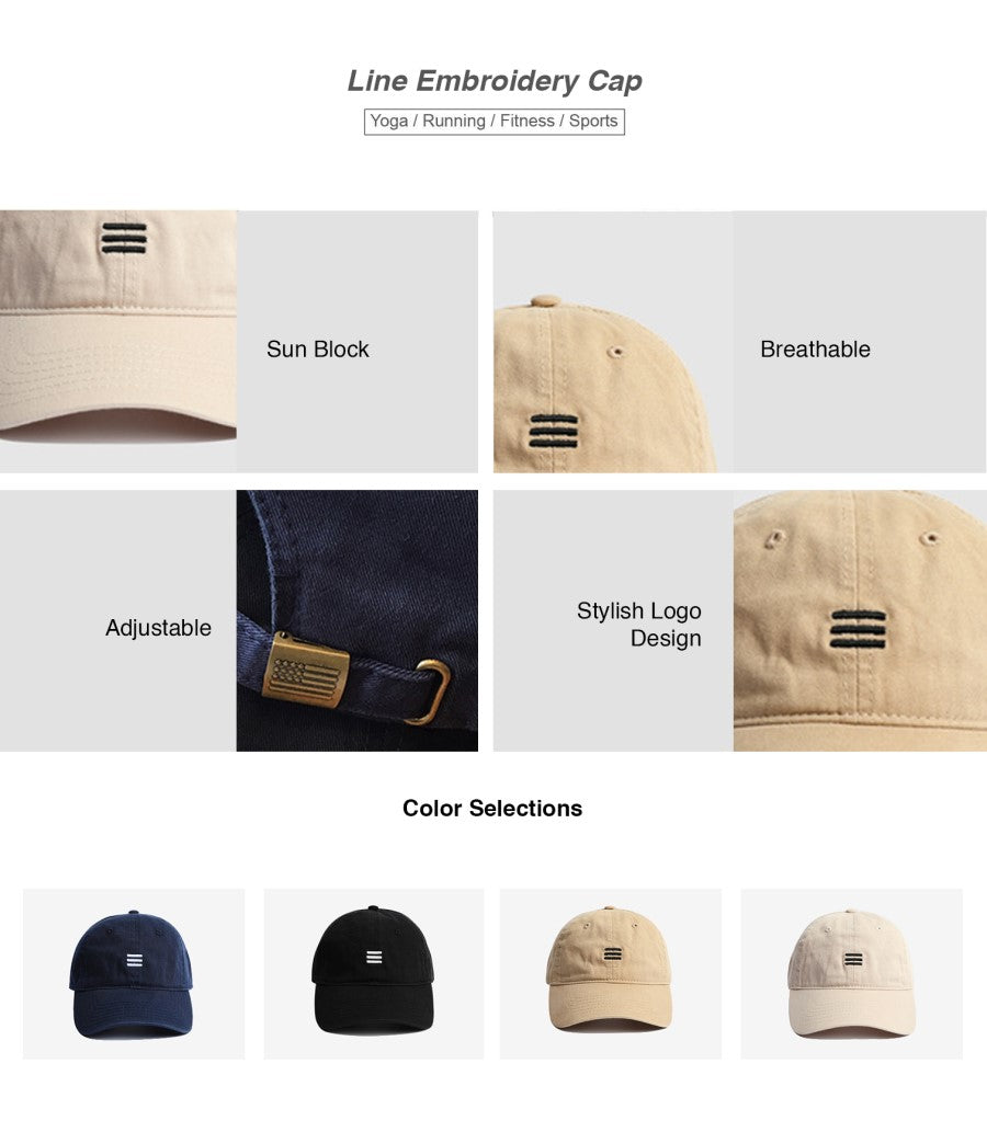 Line Embroidery Cap