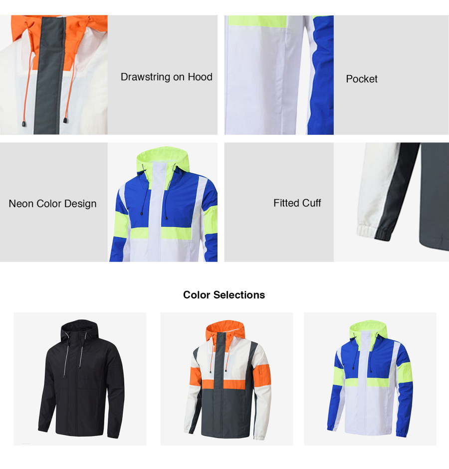 Neon Colour Block Windbreaker