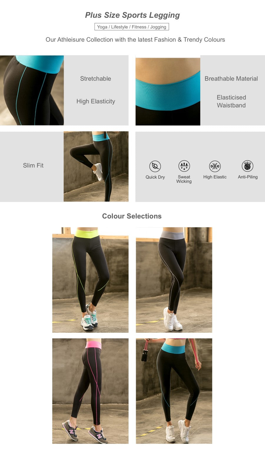 Plus Size Sports Legging