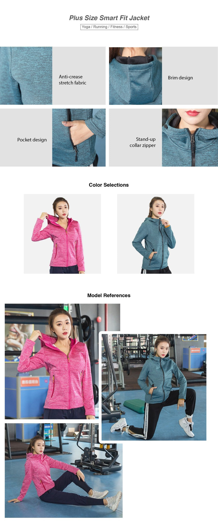 Plus Size Smart Fit Jacket