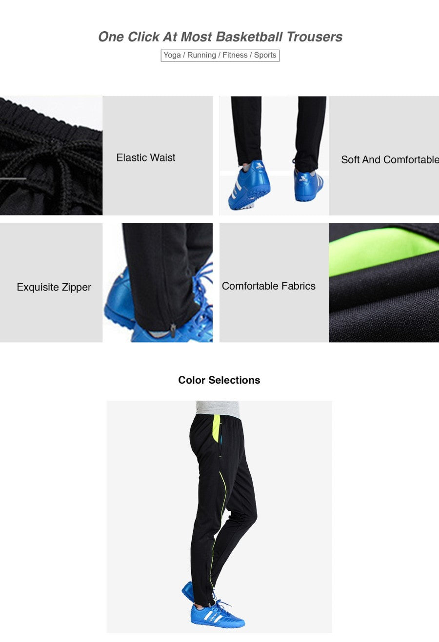 One Click At Most Basketball Trousers
