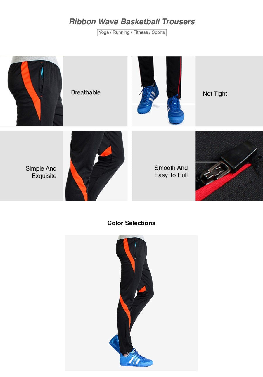 Ribbon Wave Basketball Trousers