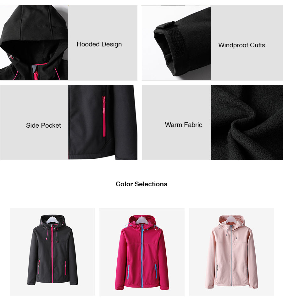 Waterproof Hiking Fleece Jacket