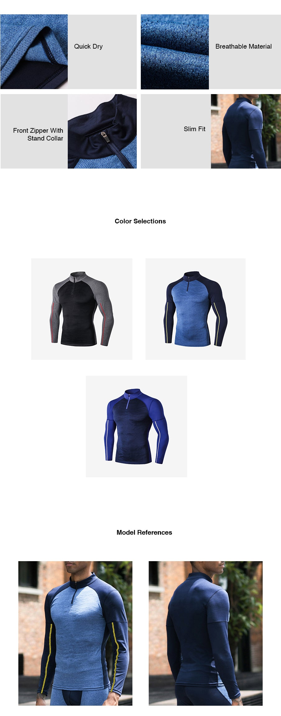 High Neck Compression Long Sleeves Top