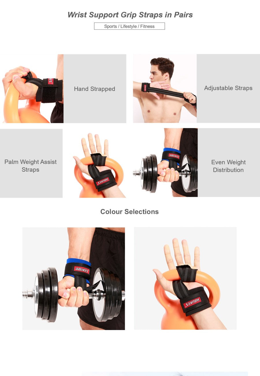 Wrist Support Grip Straps in Pairs
