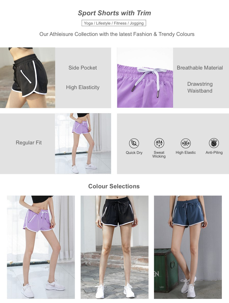 Sport Shorts with Trim