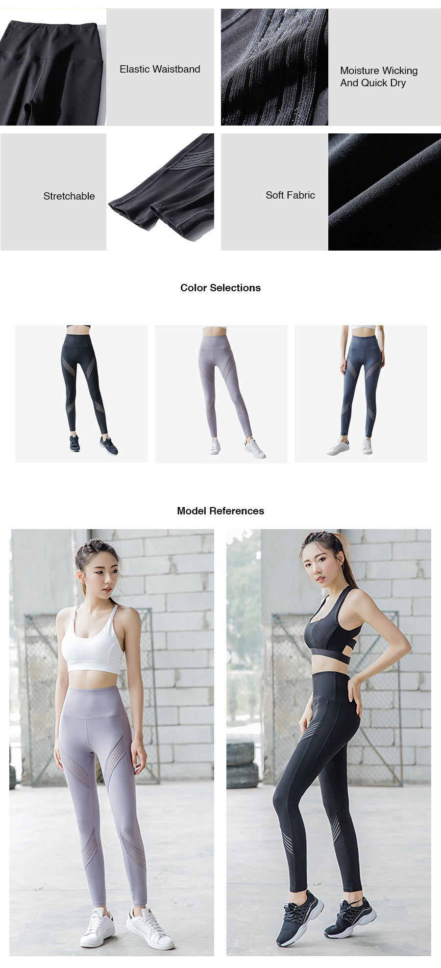 High Waist Mesh Tape Legging