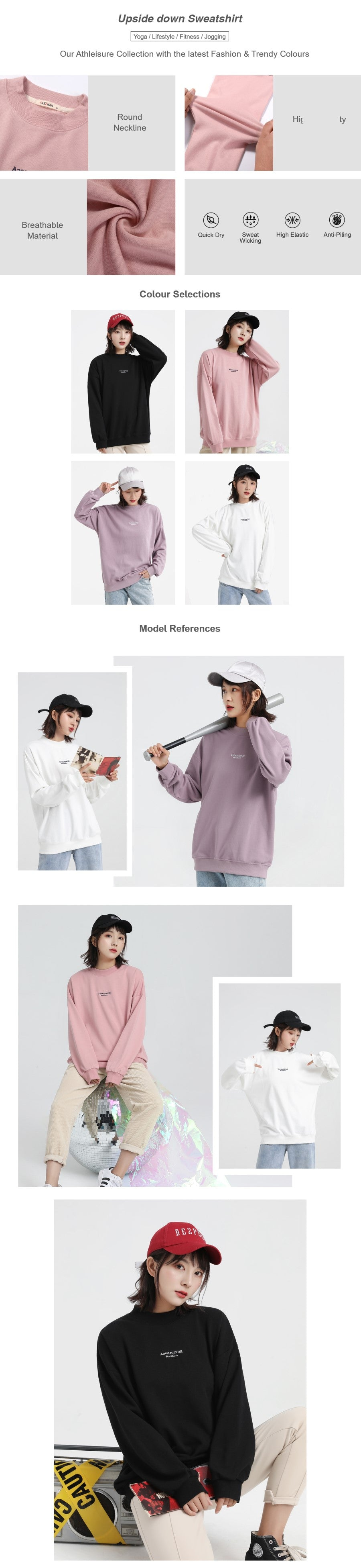 Embroidered Oversize Sweatshirt