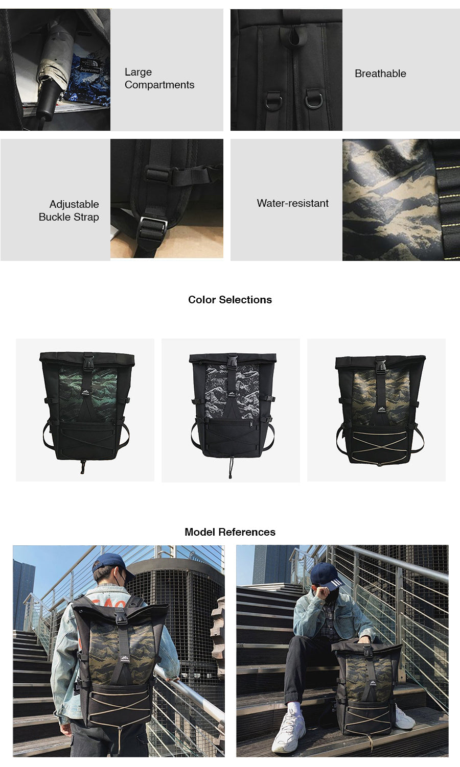 Folding Big Space Travel Bagpack