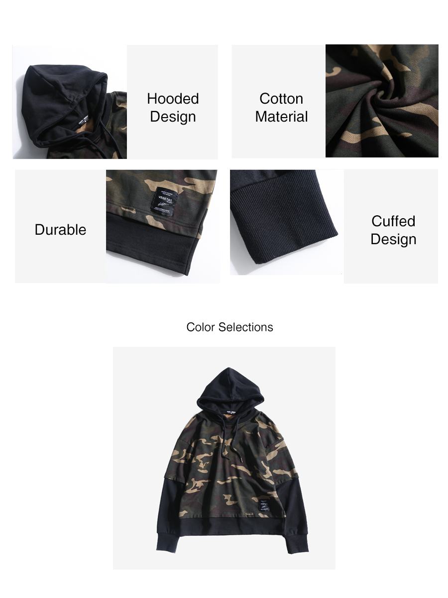 Oversized Military Patchwork Hoodies