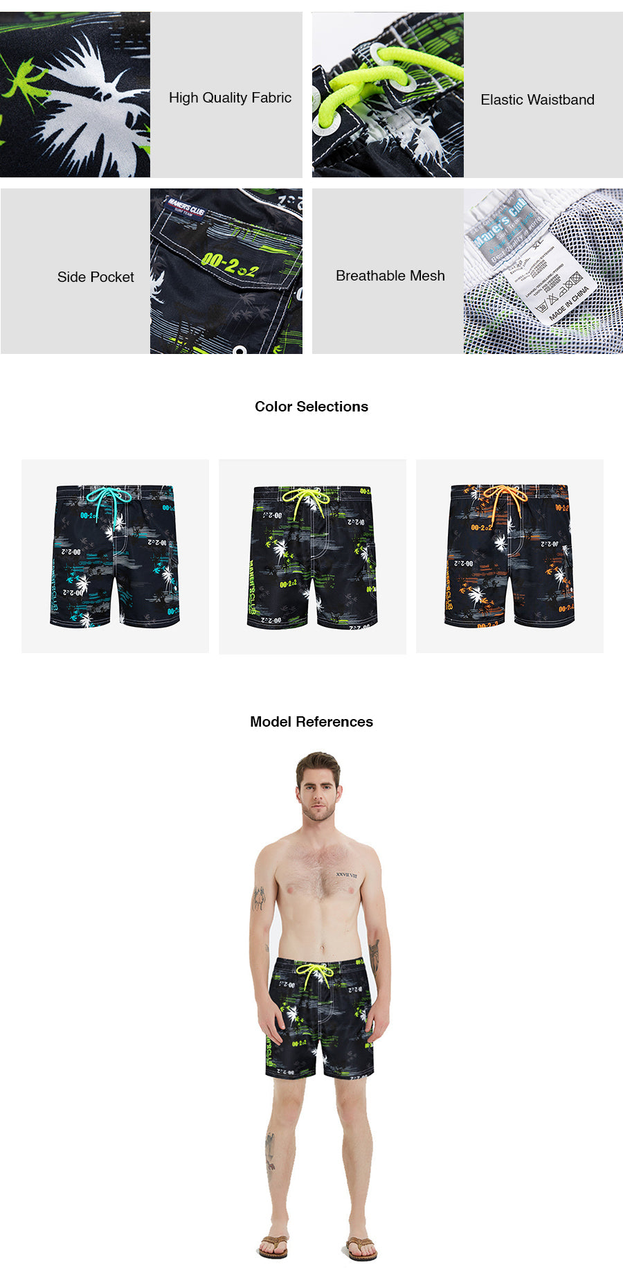 Maner's Club Swim Trunks