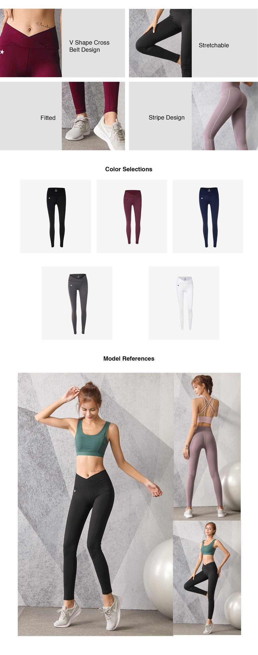 V-Shape Waistband Legging