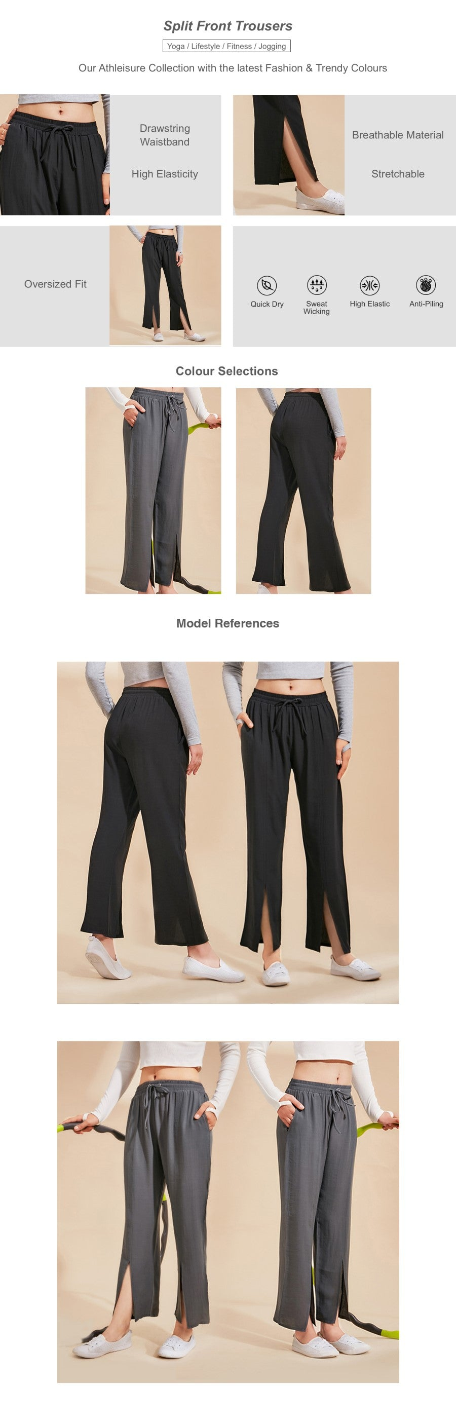 Split Front Trousers
