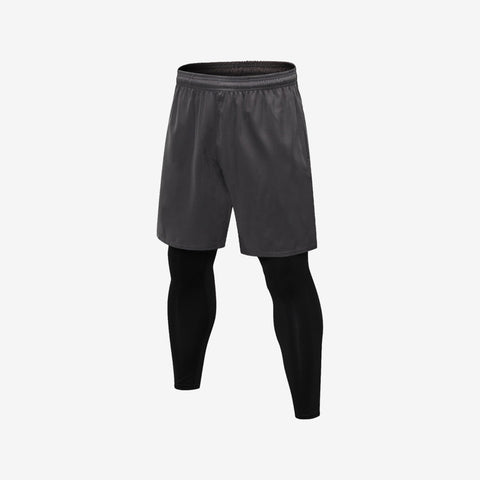 2 In 1 Compression Shorts With Tights