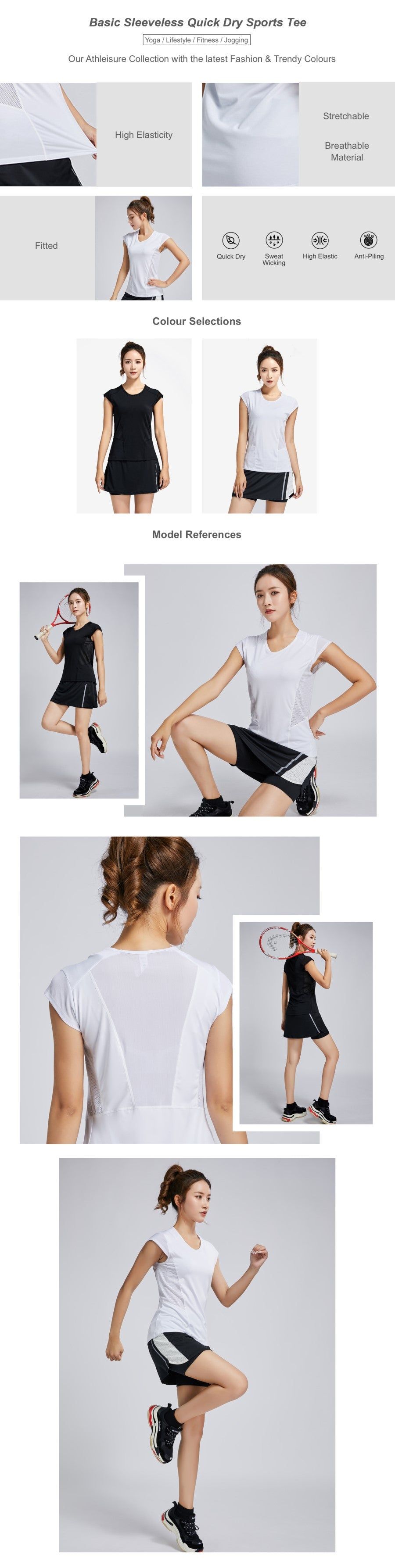 Basic Sleeveless Quick Dry Sports Tee