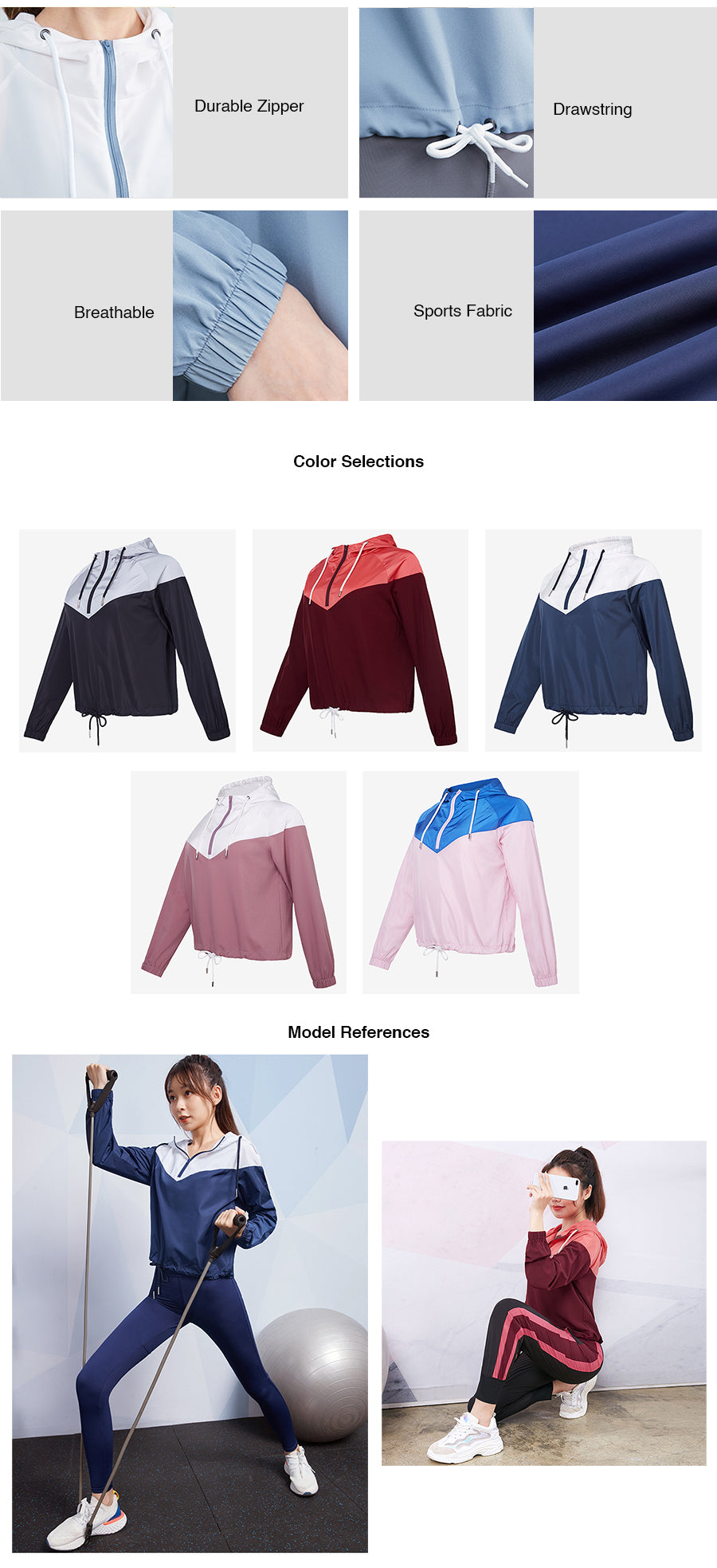 Two Toned Cropped Hoodie