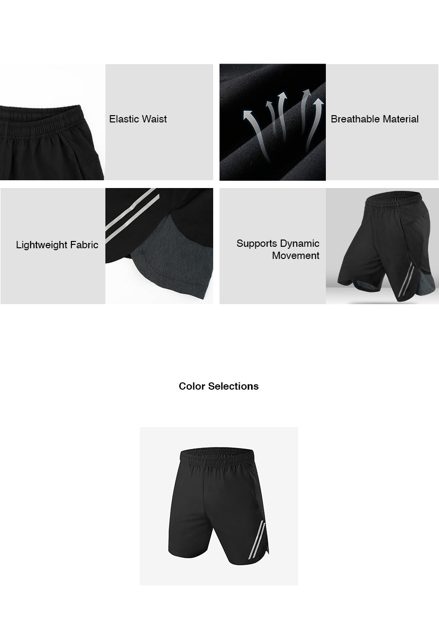 Quick Dry Reflective Long Shorts
