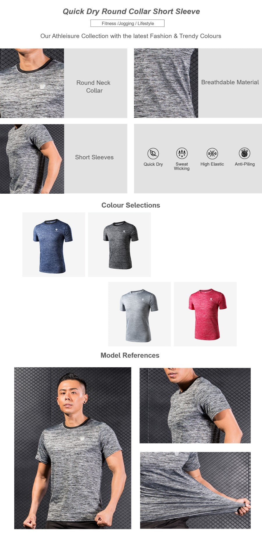 Muscle Fit Plus Short Sleeve Top