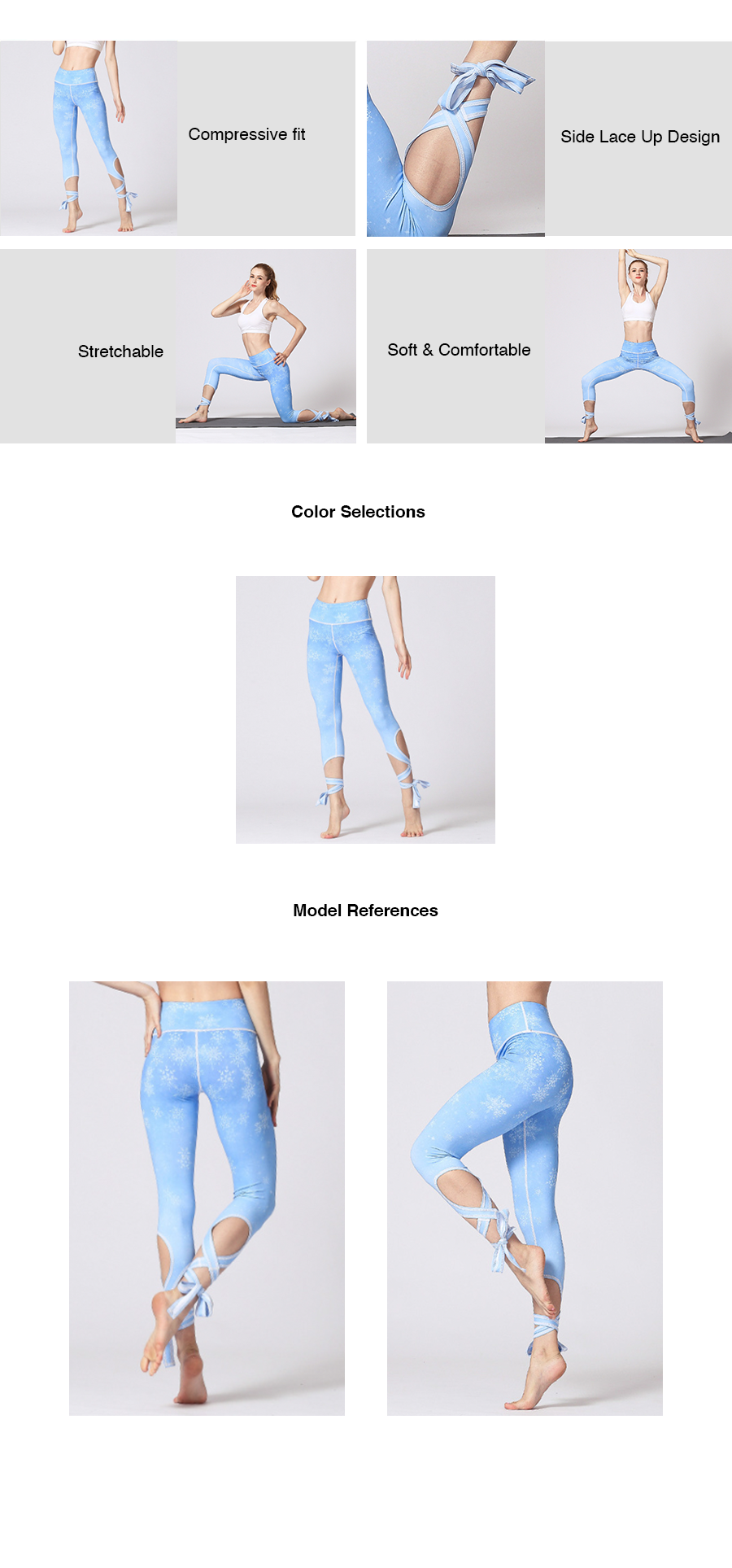 Snow Crystal Lace Up Legging