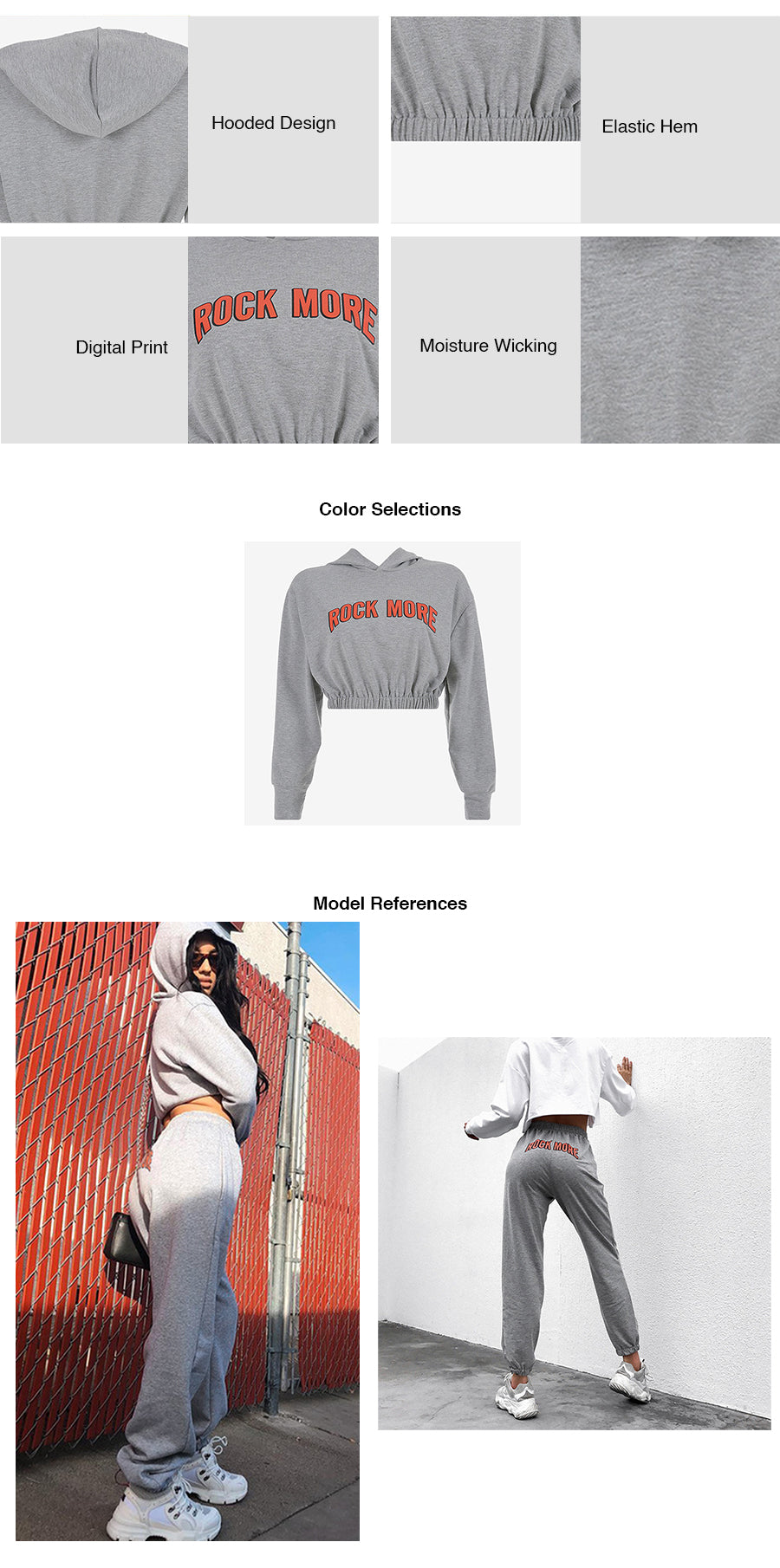 Crop Hooded Pullovers