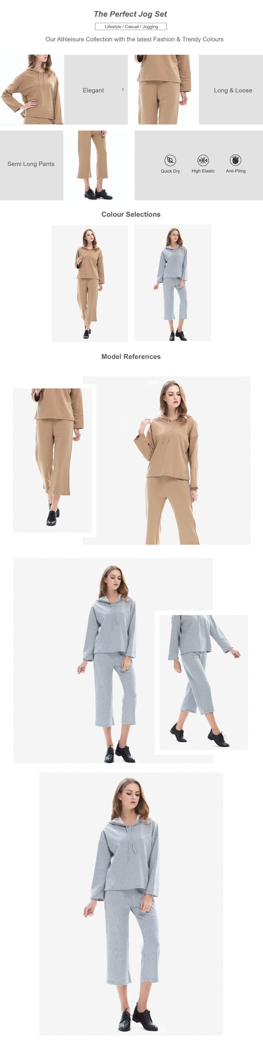 Hooded Top with Capri Joggers Set