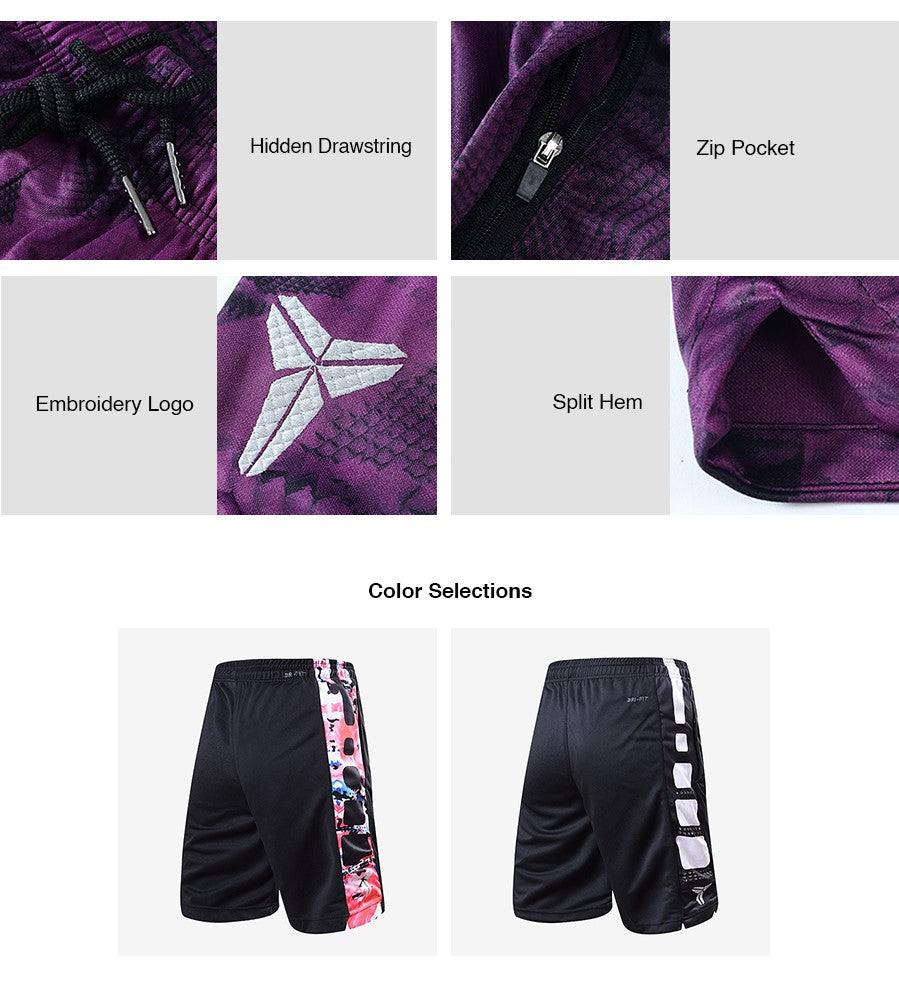 Abstract Panel Basketball Shorts