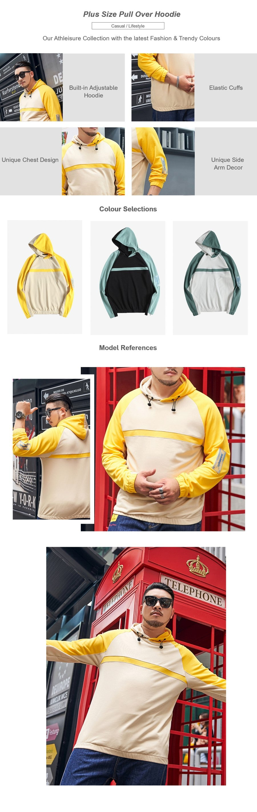 Plus Size Pull Over Hoodie