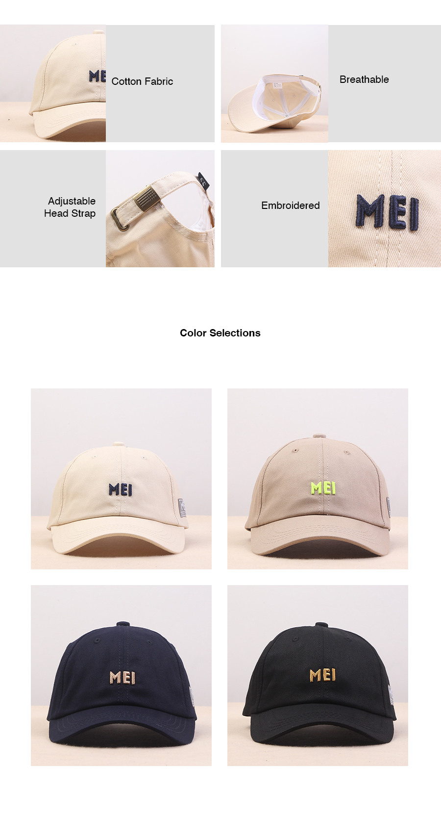 MEI Embroidery Adult Cap