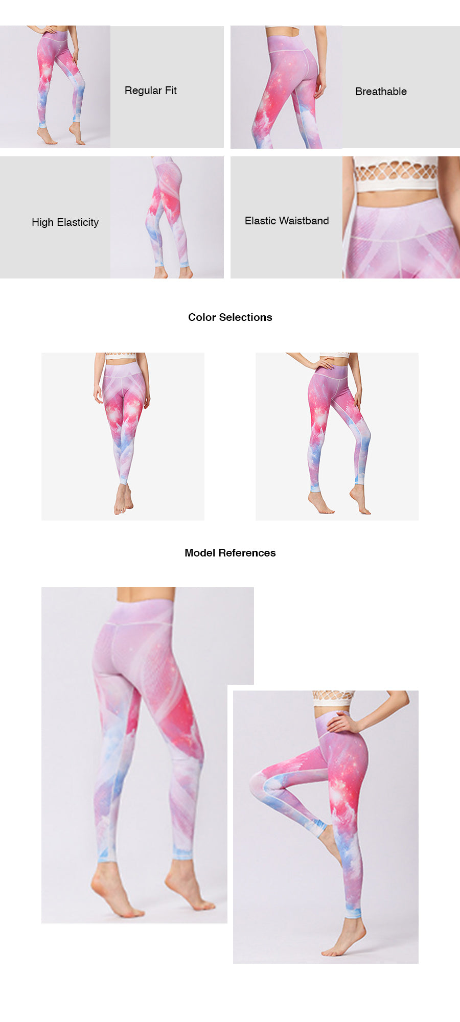Galaxy Print Yoga TIghts