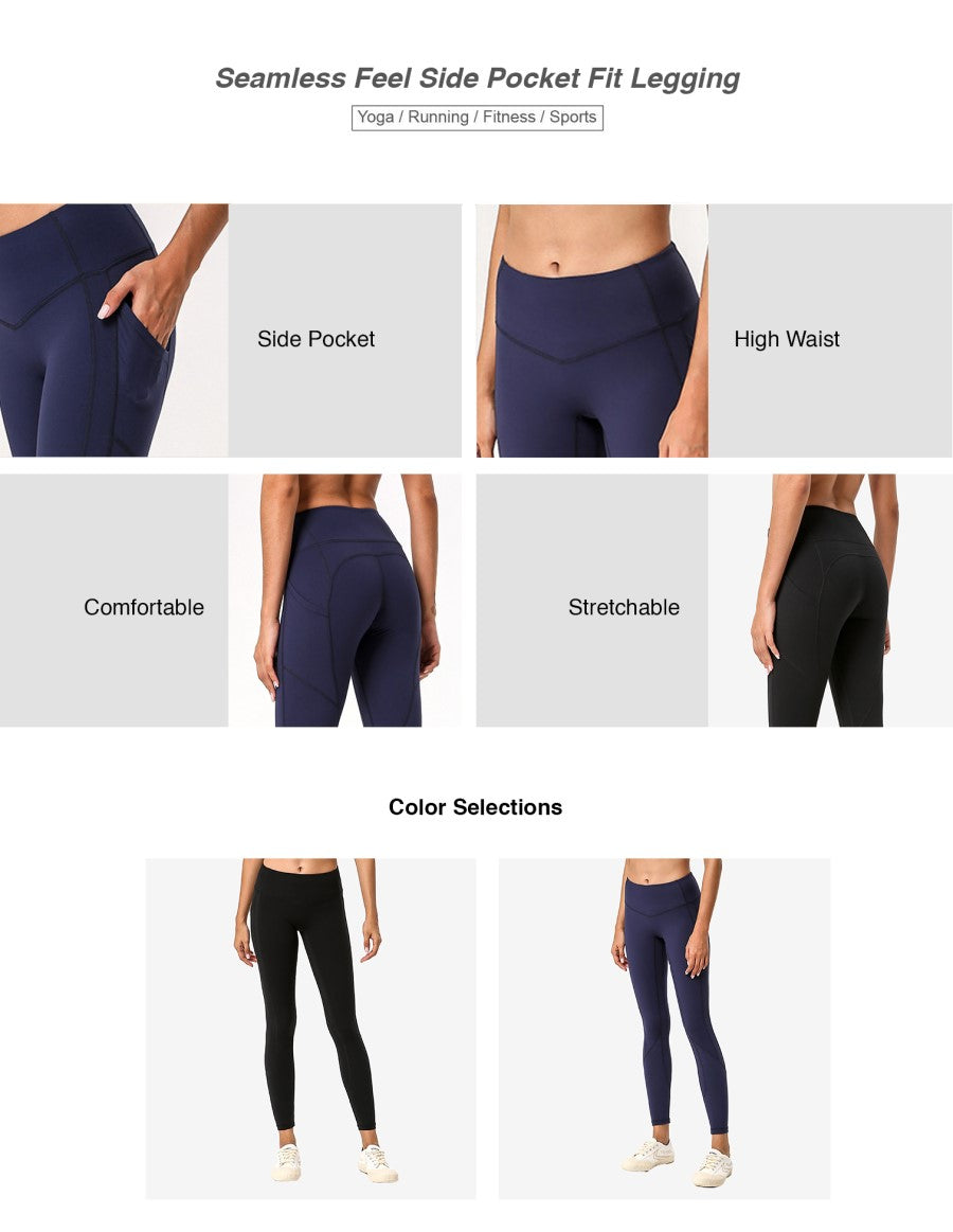 Seamless Feel Side Pocket Fit Legging