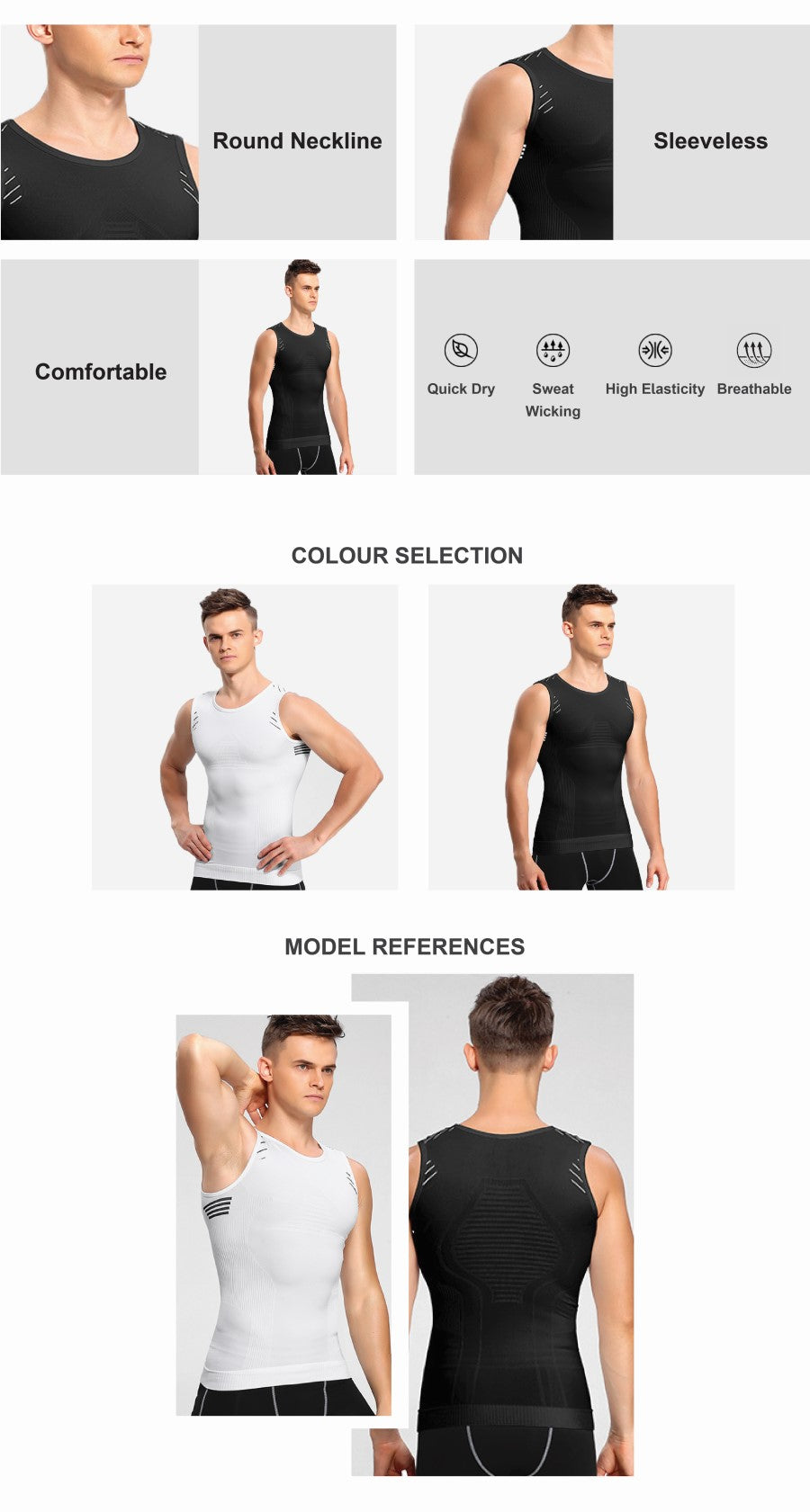 Knitted Compression Tank Top