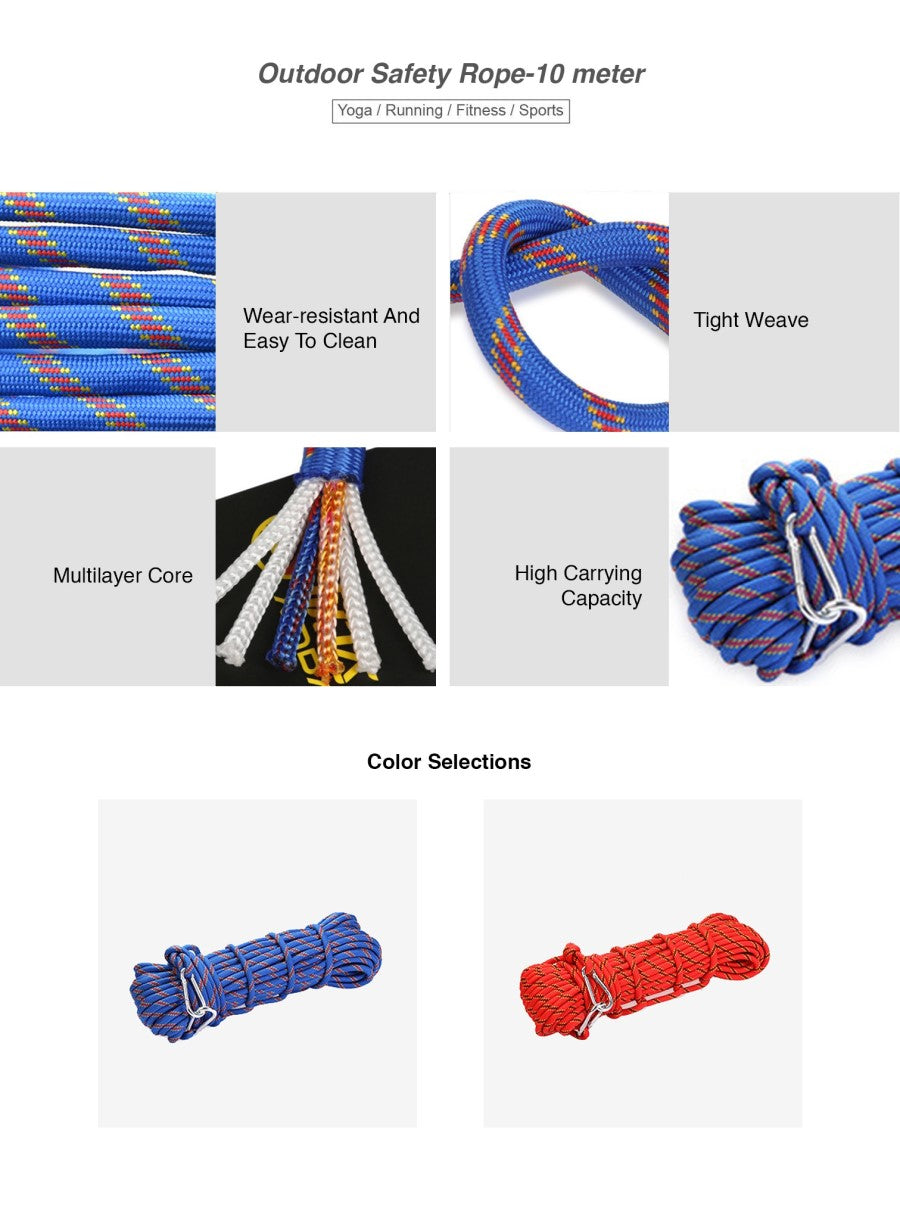 Outdoor Safety Rope-10 meter