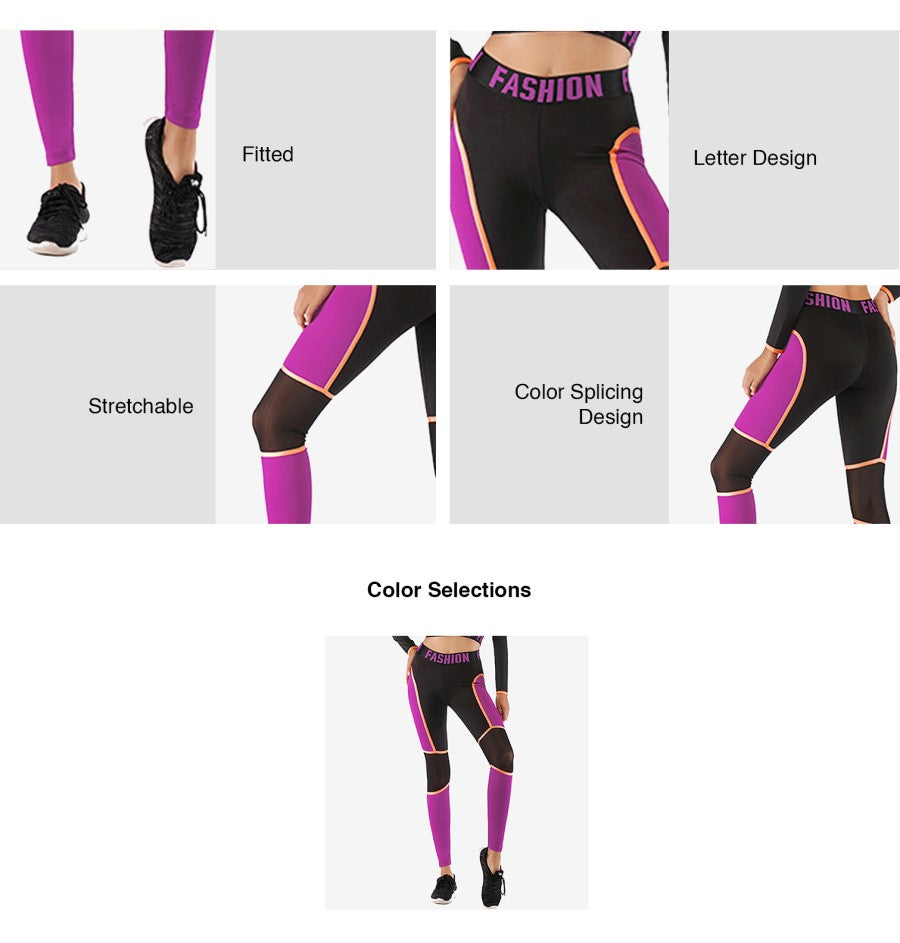 Violet Colour Block Legging