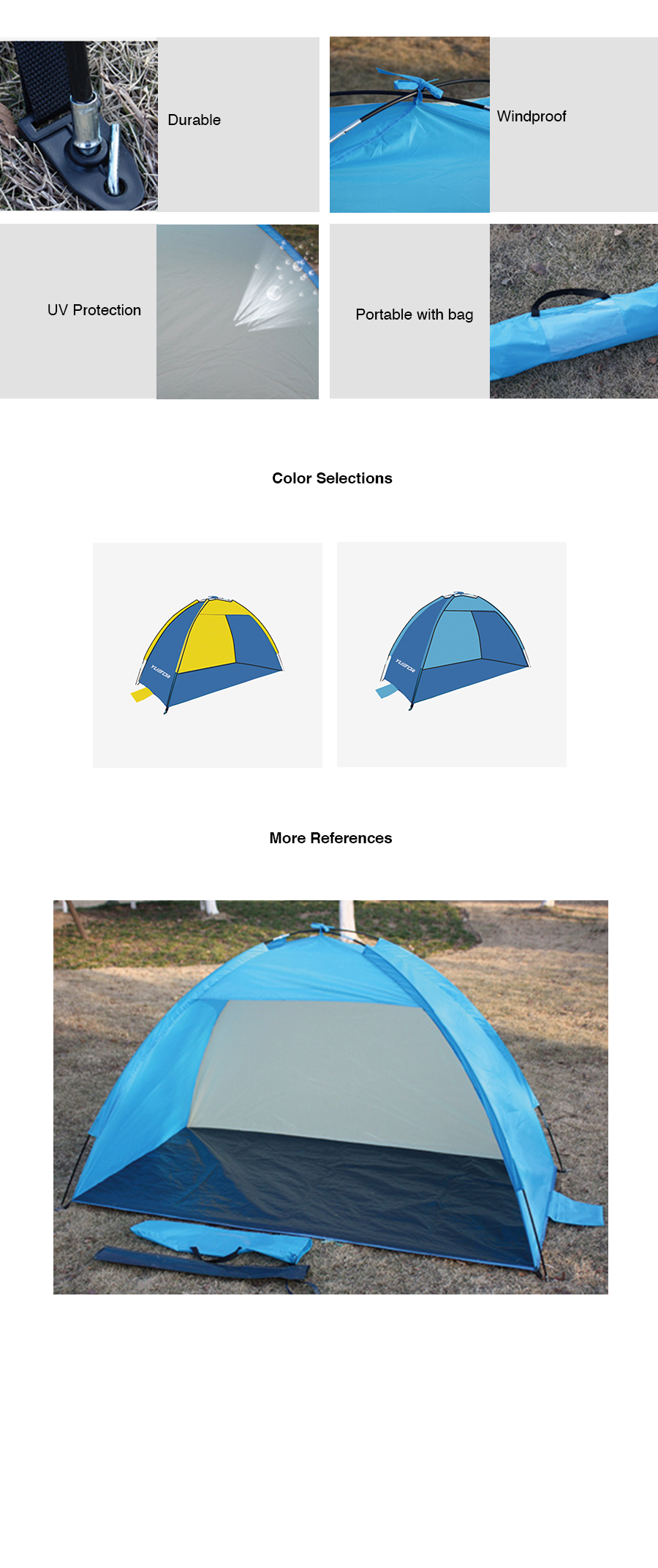 YTR Outdoor Tent (210*210*130cm)