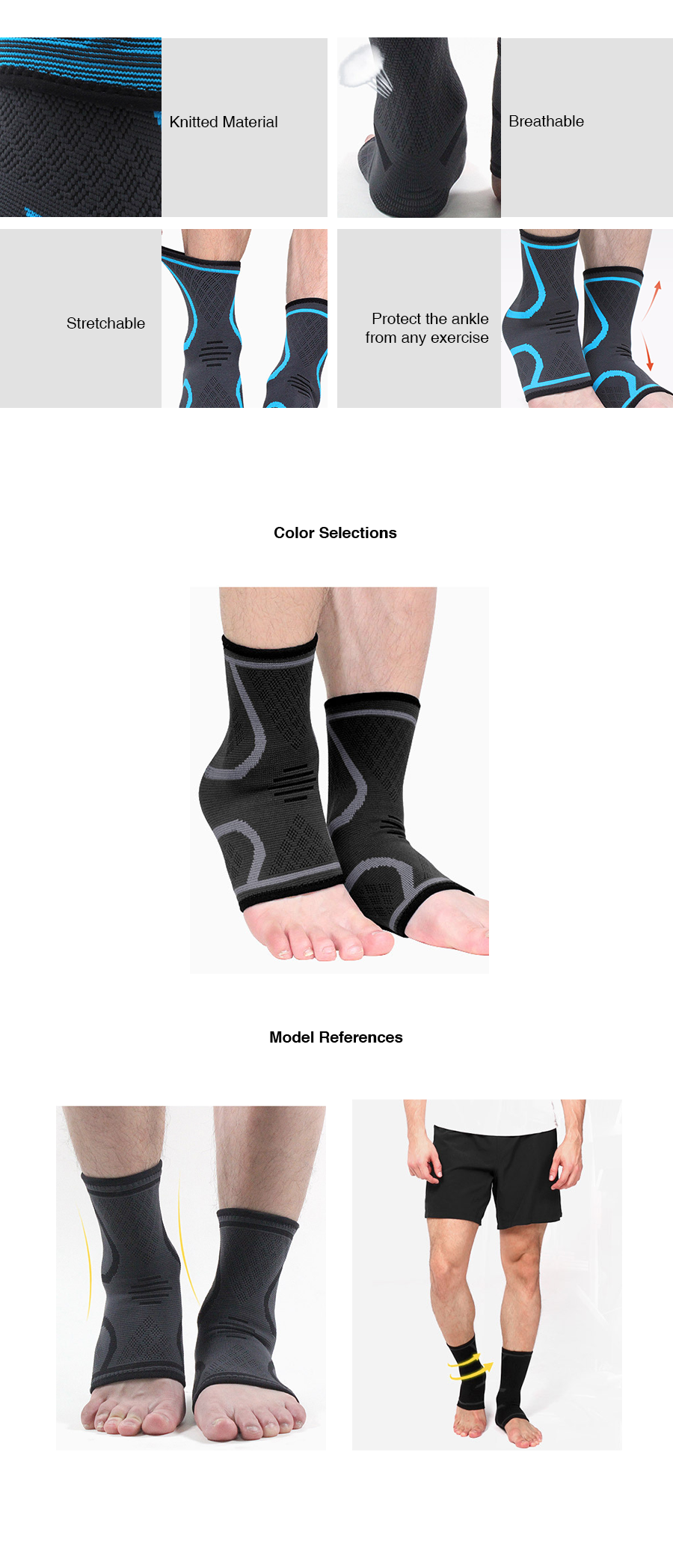 Compression Ankle Support in Pair