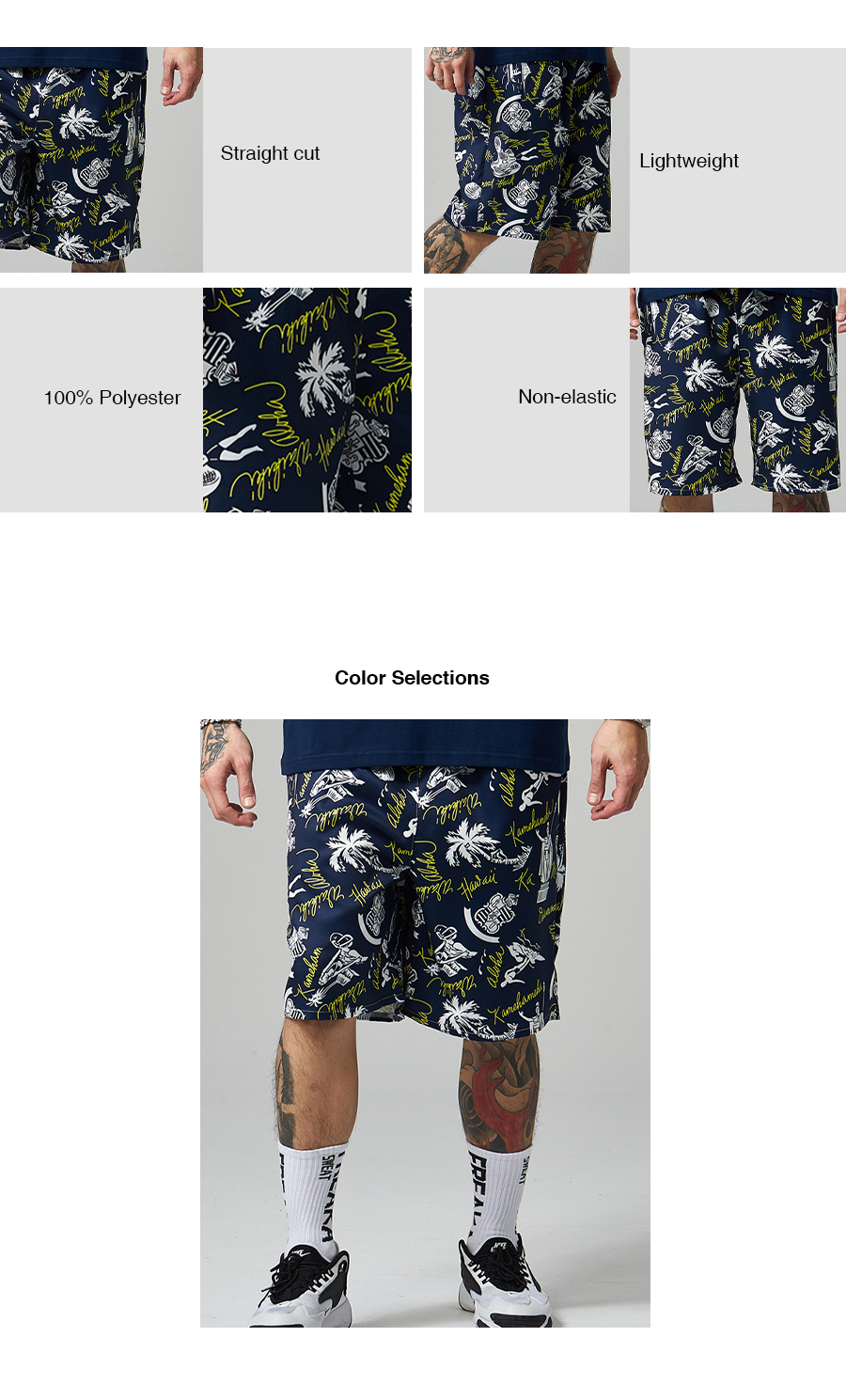 Quick Dry Graphic Beach Trunks