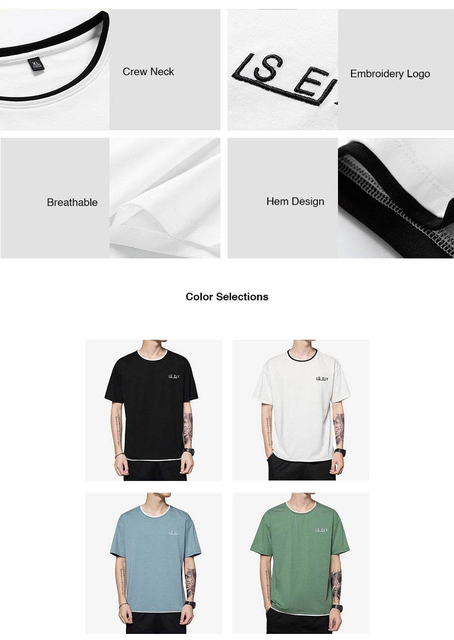 Crew Neck Casual T-shirt