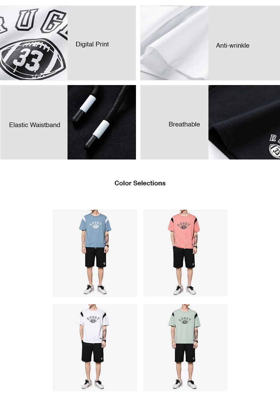 Rugby Graphic Casual Wear Set