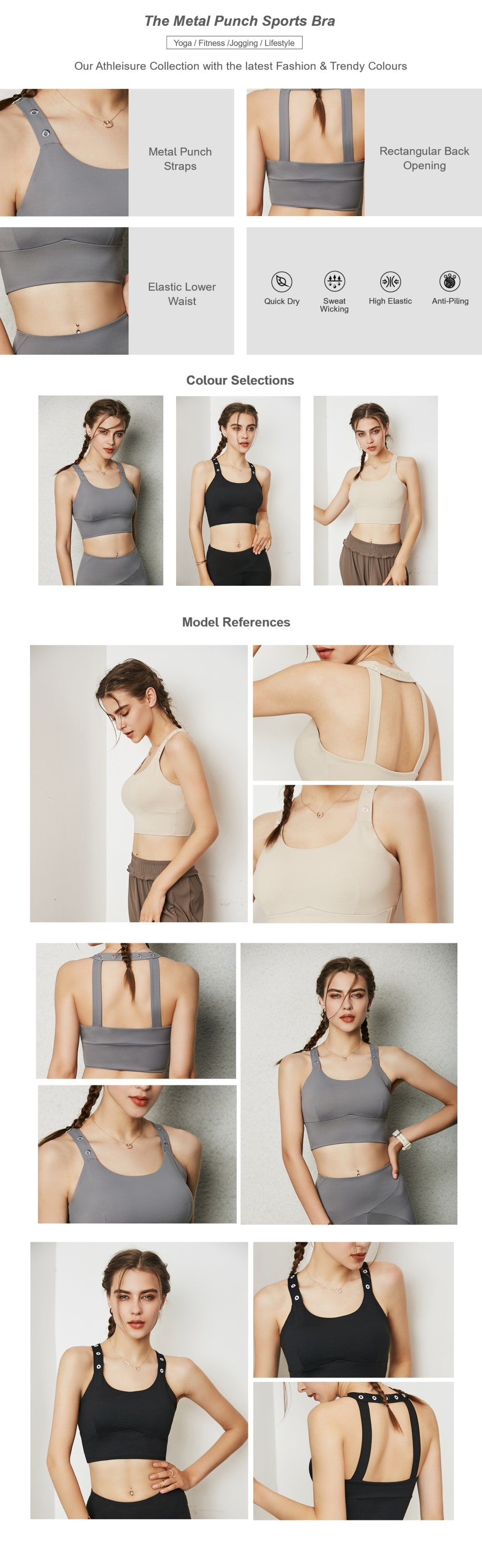 The Metal Punch Sports Bra