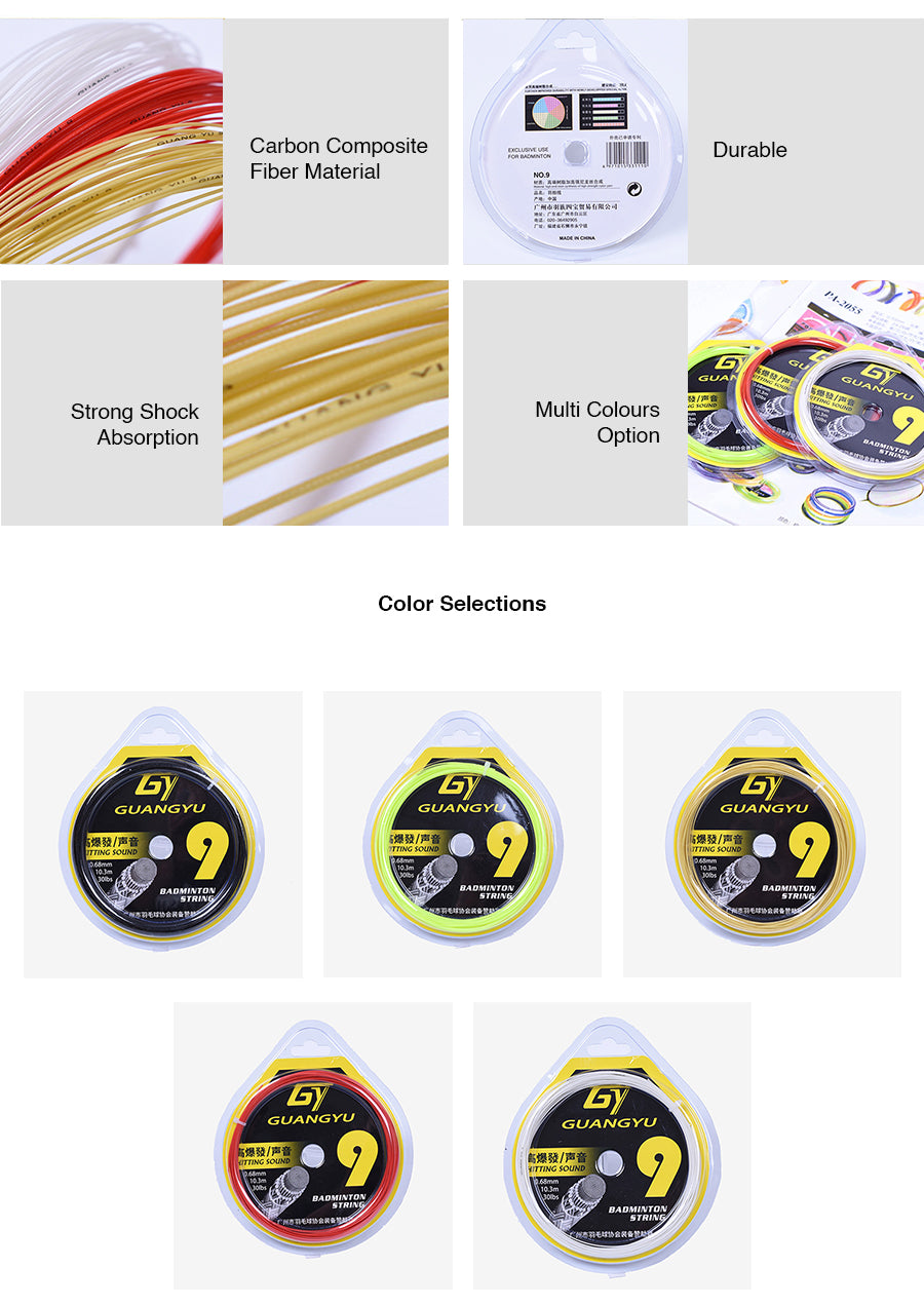 GY Badminton 0.68 mm Solid String
