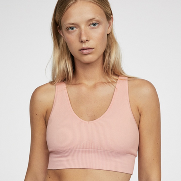 Strappy Knitted Active Sports Bra