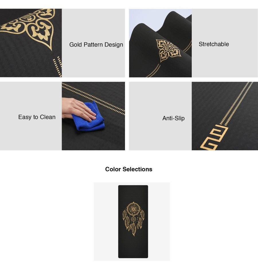 TPE Golden Dream Catcher Yoga Mat