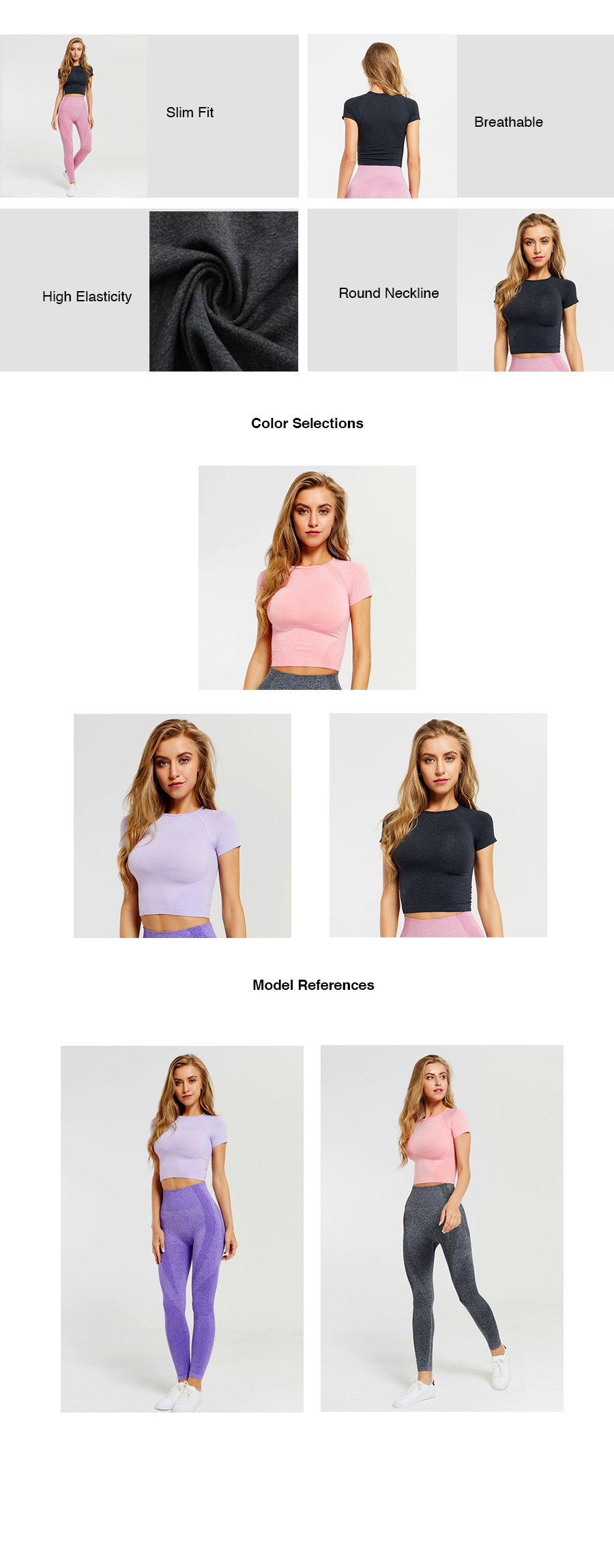 Raglan Sleeves Crop Top