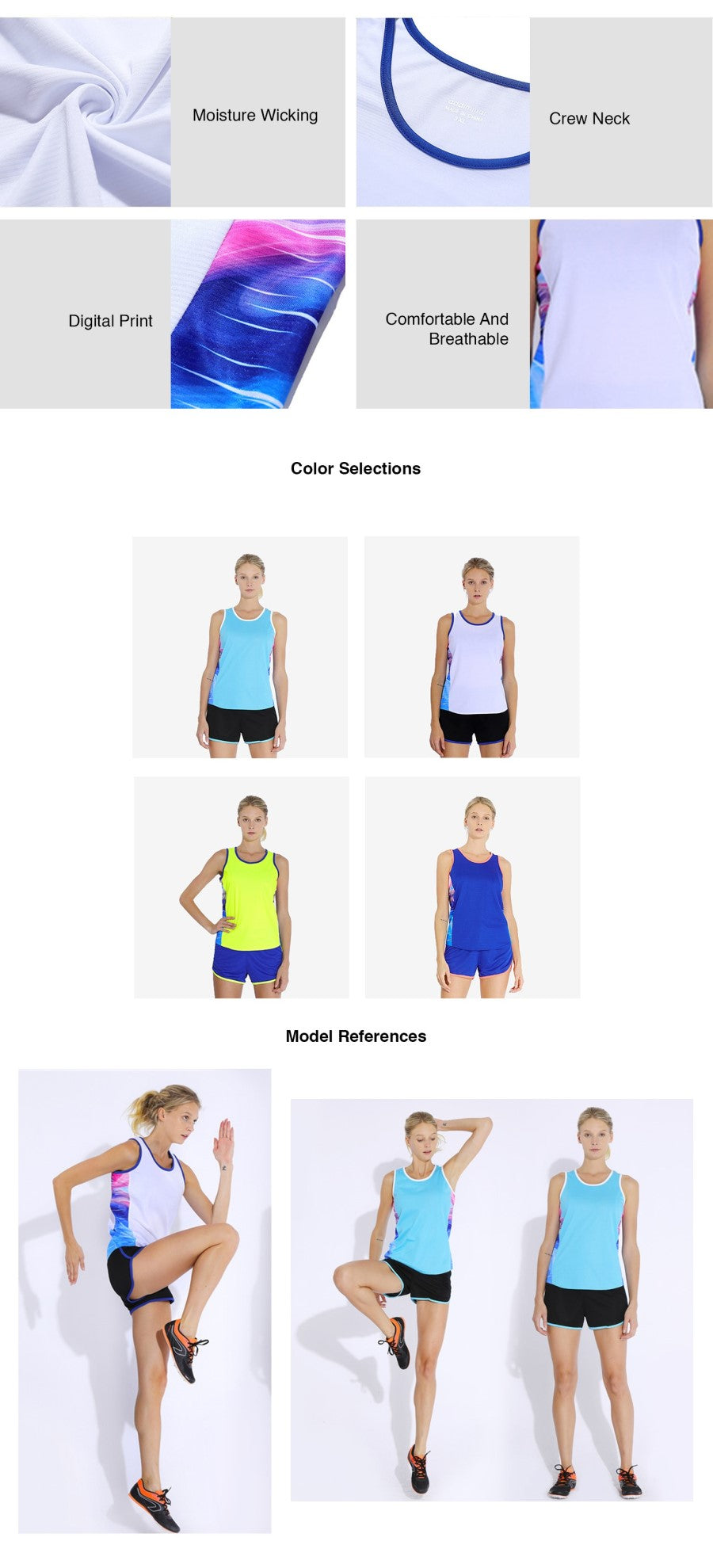 Tank Top & Shorts Running Set Wear