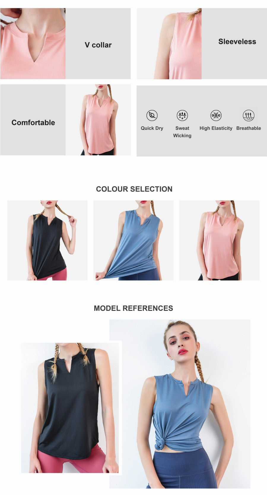 Quick Dry Loose Tank Top