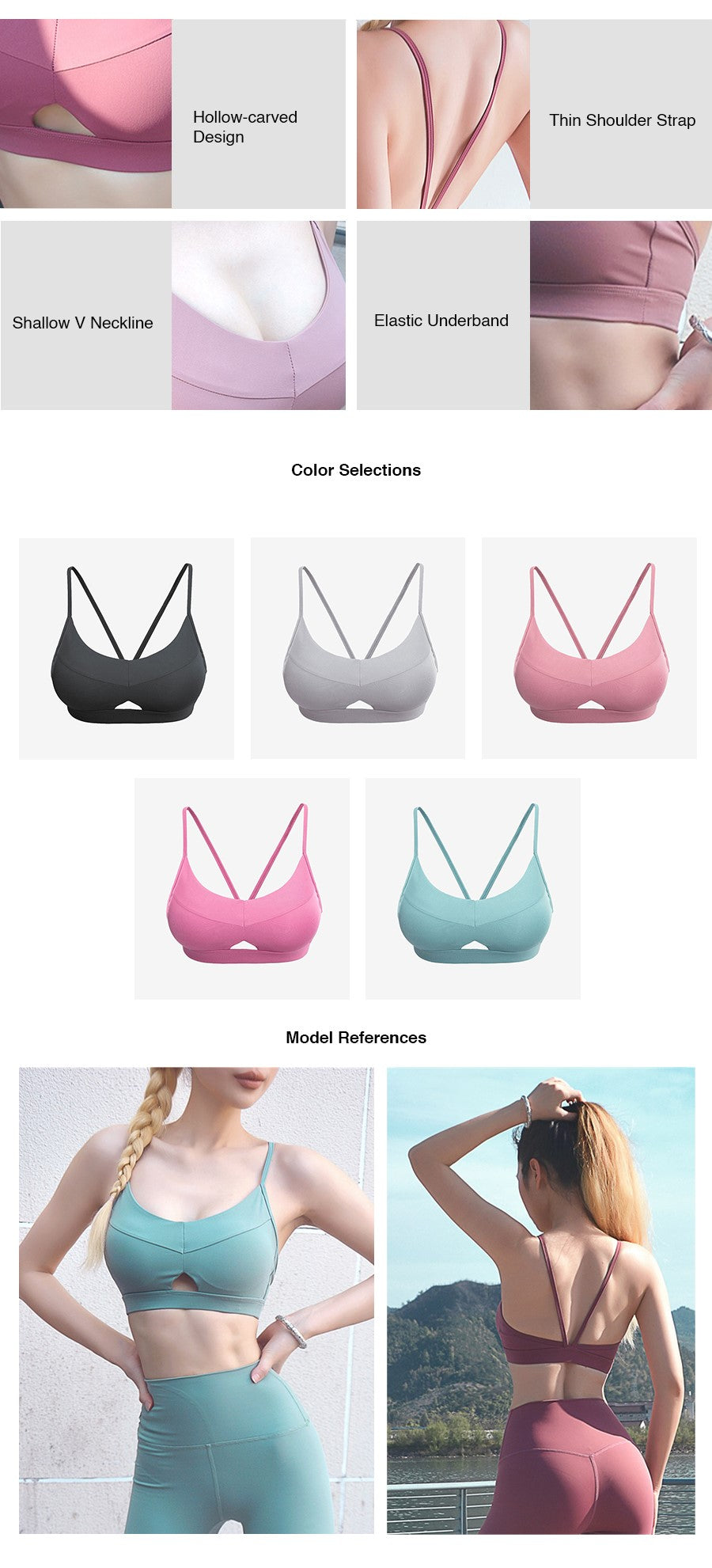 Sexy Hollow Out Sport Bra