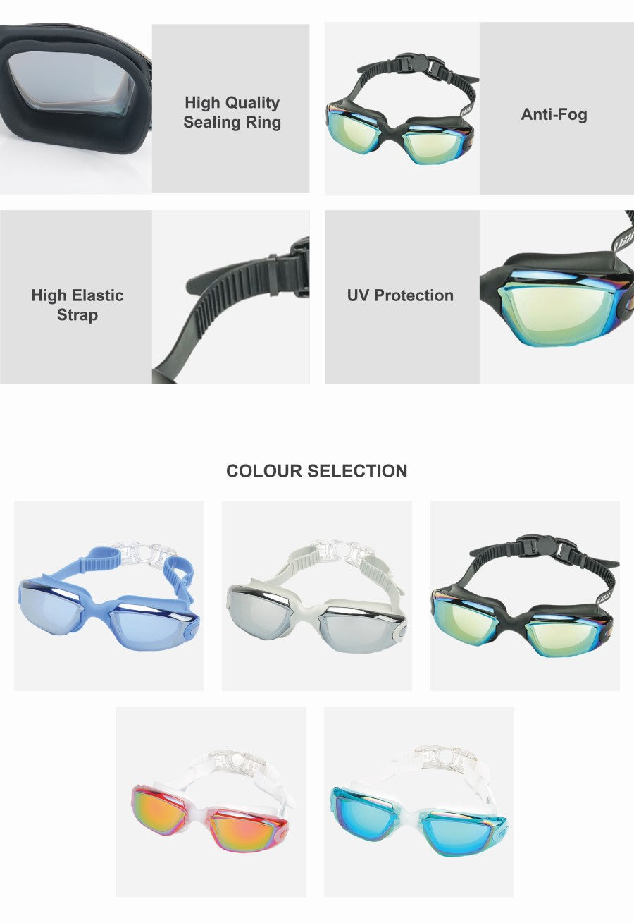 Electroplated Silicone Swim Goggles