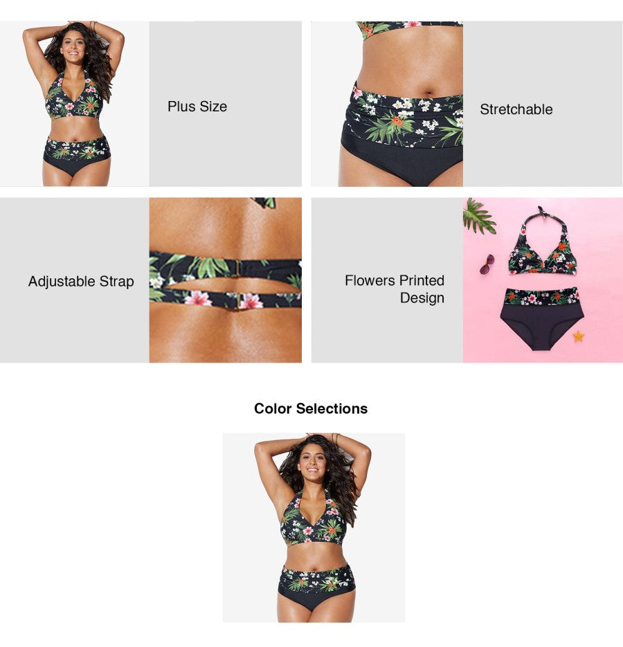 Plus Size Midnight Garden Two-piece Bikini